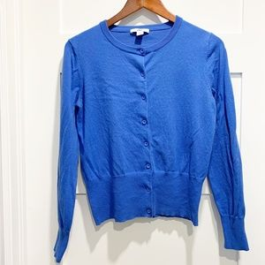 Anne Klein Sport Classic Blue Cardigan Sweater